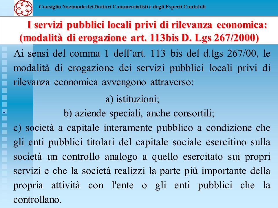 Consiglio Nazionale dei Dottori Commercialisti e degli Esperti Contabili Limiti a costituzione e partecipazione in società Limiti a costituzione e partecipazione in società degli Enti Locali ------------------------------------------------------------------------------------------------------------------------------ Corso Avanzato - II Livello LA REVISIONE NEGLI ENTI LOCALI Il decreto Bersani, allart.