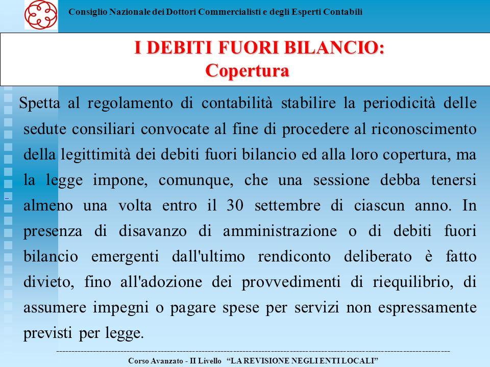 Consiglio Nazionale dei Dottori Commercialisti e degli Esperti Contabili Spetta al regolamento di contabilità stabilire la periodicità delle sedute co