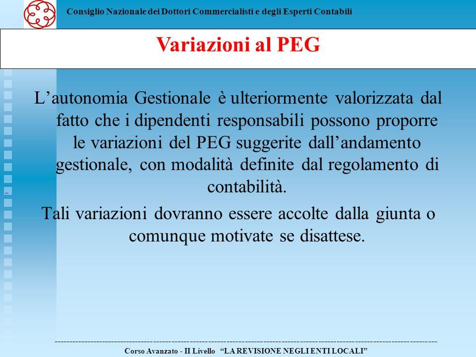 Consiglio Nazionale dei Dottori Commercialisti e degli Esperti Contabili Lautonomia Gestionale è ulteriormente valorizzata dal fatto che i dipendenti