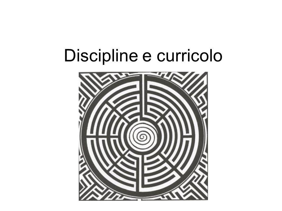Discipline e curricolo