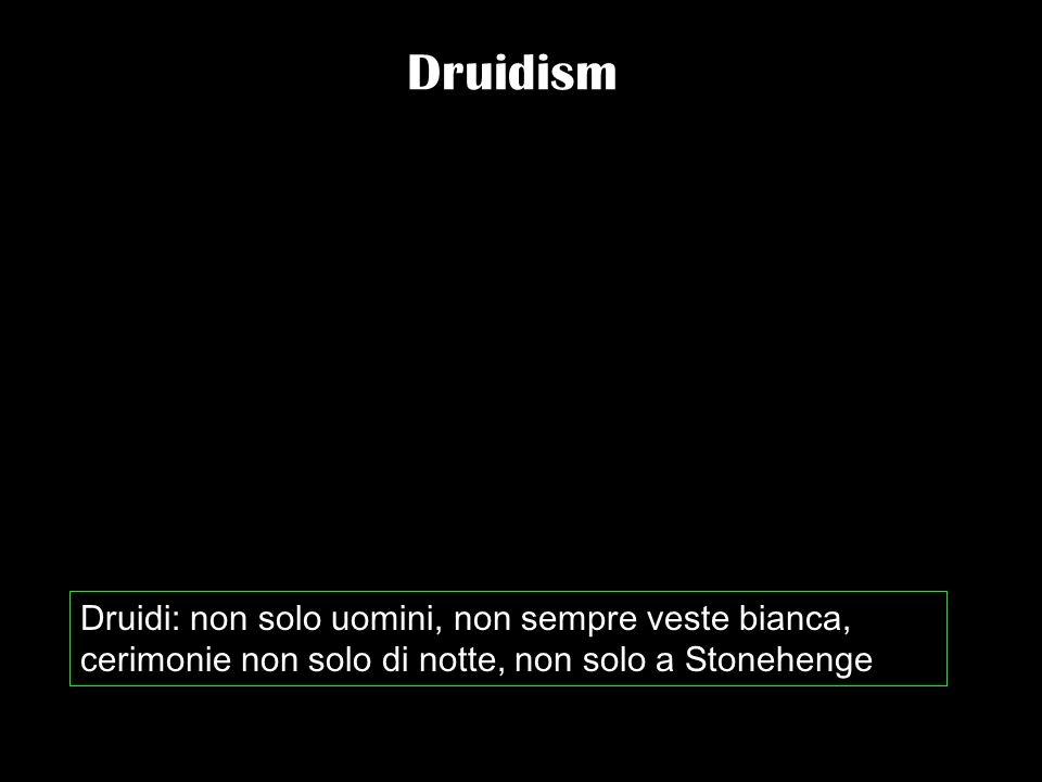 Druidism Druidi: non solo uomini, non sempre veste bianca, cerimonie non solo di notte, non solo a Stonehenge