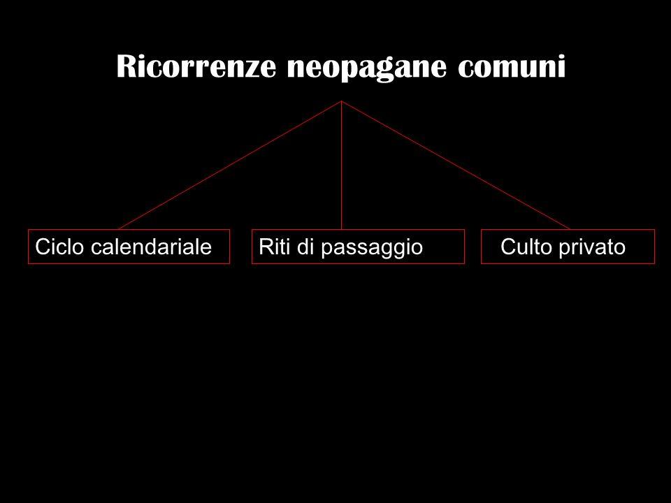 Ricorrenze neopagane comuni Ciclo calendarialeRiti di passaggio Culto privato
