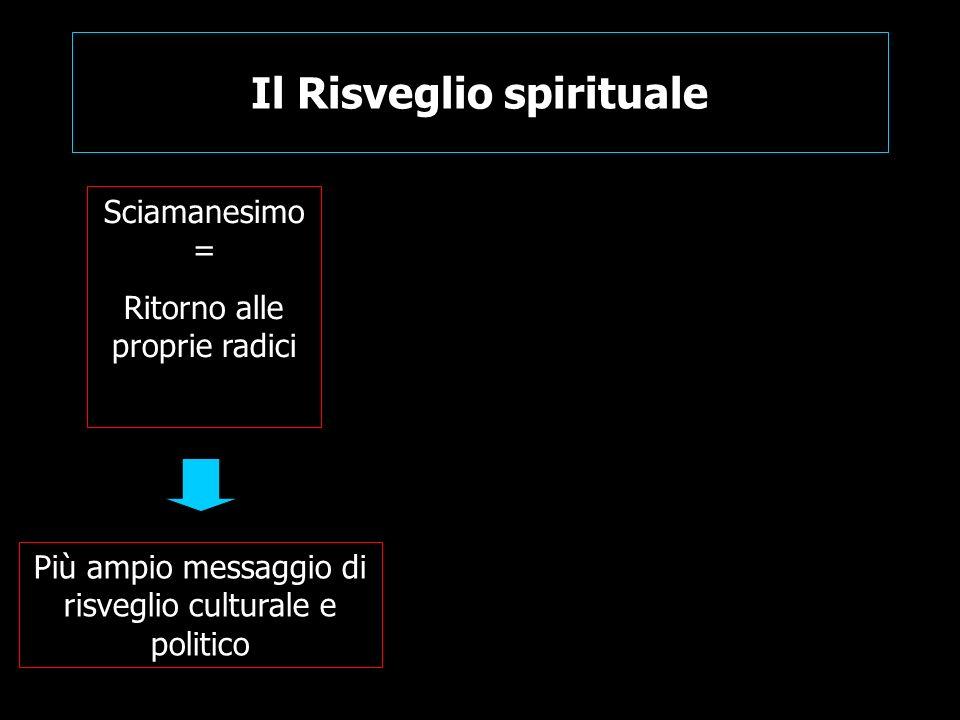 Il Risveglio spirituale Sciamanesimo = Ritorno alle proprie radici Più ampio messaggio di risveglio culturale e politico
