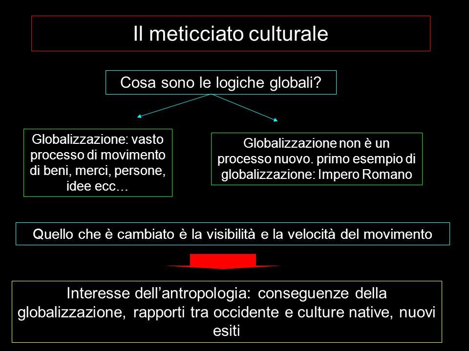 Il meticciato culturale Cosa sono le logiche globali.