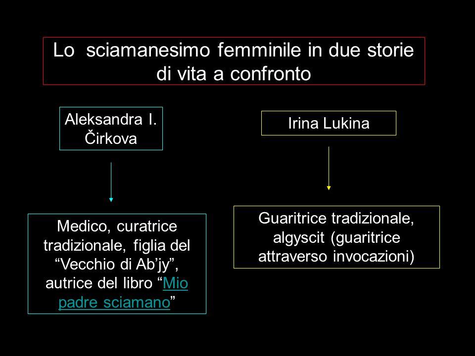 Lo sciamanesimo femminile in due storie di vita a confronto Aleksandra I. Čirkova Irina Lukina Medico, curatrice tradizionale, figlia del Vecchio di A