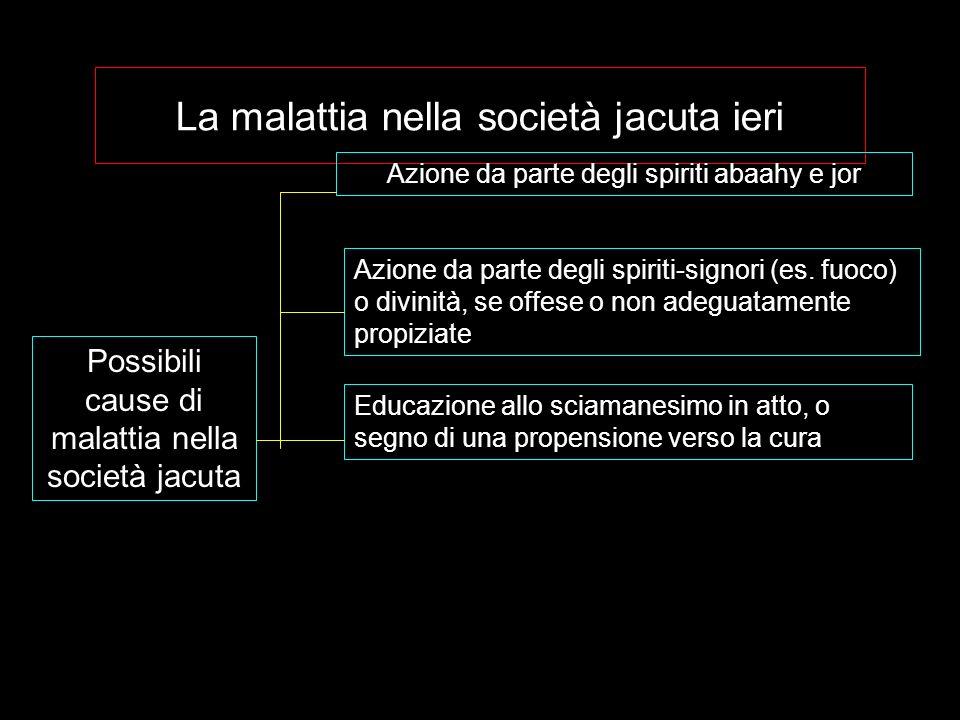 La malattia nella società jacuta ieri Possibili cause di malattia nella società jacuta Azione da parte degli spiriti abaahy e jor Azione da parte degl