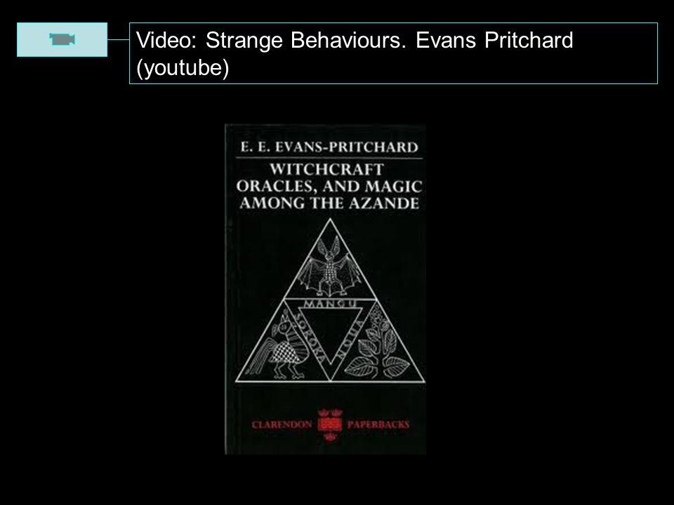 Video: Strange Behaviours. Evans Pritchard (youtube)
