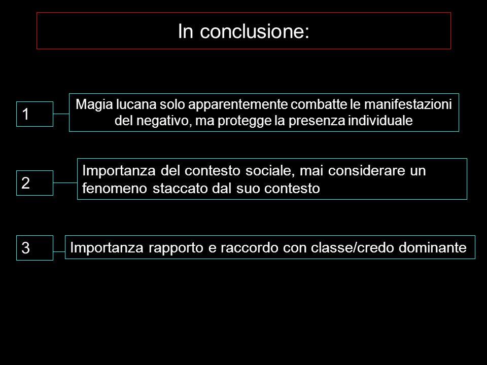In conclusione: Magia lucana solo apparentemente combatte le manifestazioni del negativo, ma protegge la presenza individuale 1 2 Importanza del conte