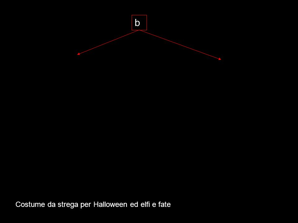 b Costume da strega per Halloween ed elfi e fate