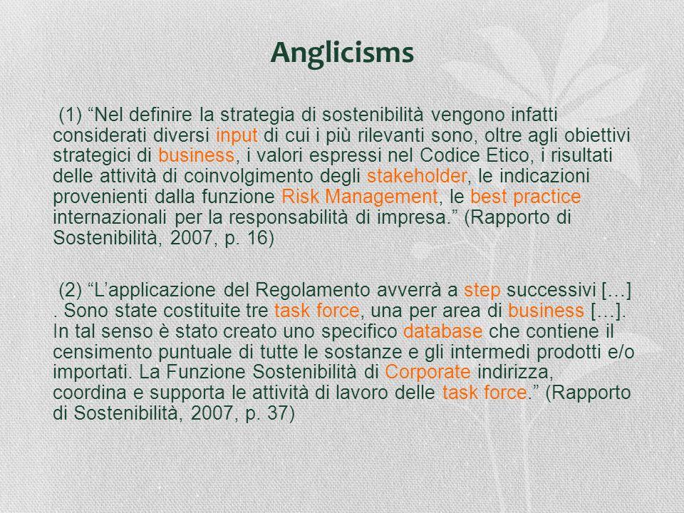 (1) Nel definire la strategia di sostenibilità vengono infatti considerati diversi input di cui i più rilevanti sono, oltre agli obiettivi strategici