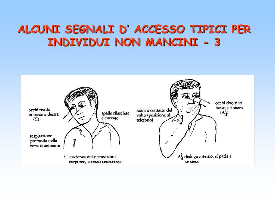 ALCUNI SEGNALI D ACCESSO TIPICI PER INDIVIDUI NON MANCINI - 3