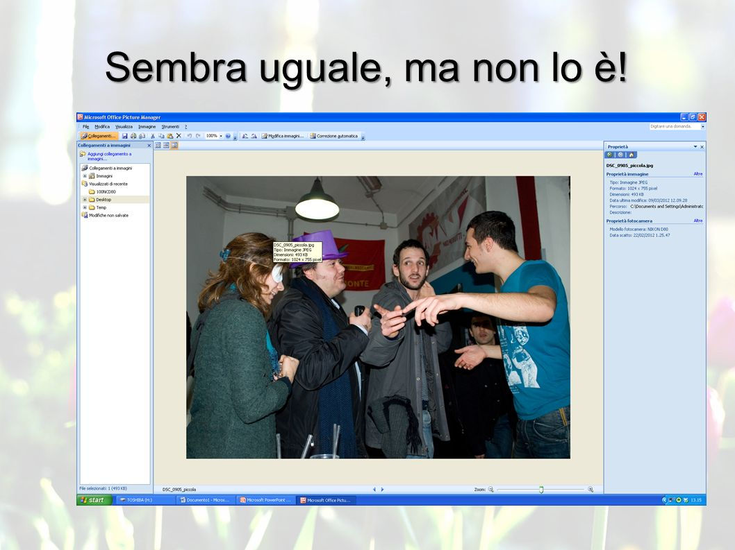 Immagini: formato e web