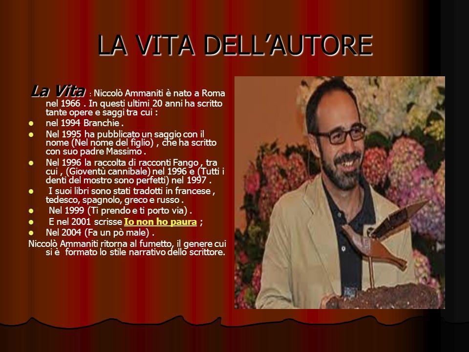 LA VITA DELLAUTORE La Vita La Vita : Niccolò Ammaniti è nato a Roma nel 1966. In questi ultimi 20 anni ha scritto tante opere e saggi tra cui : nel 19
