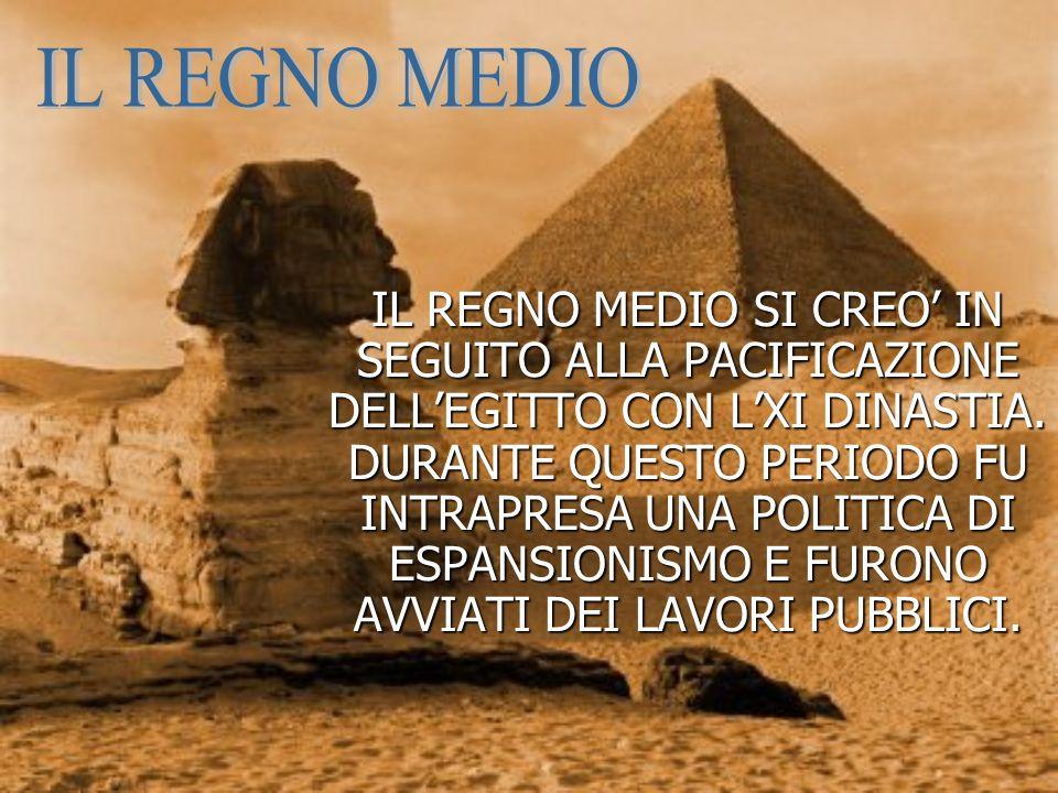 IL REGNO MEDIO SI CREO IN SEGUITO ALLA PACIFICAZIONE DELLEGITTO CON LXI DINASTIA.
