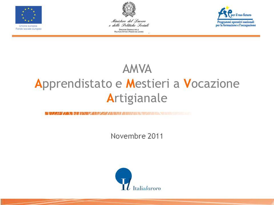 AMVA Apprendistato e Mestieri a Vocazione Artigianale Novembre 2011