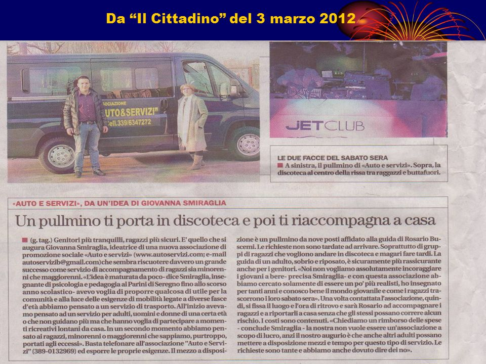 Da Il Cittadino del 3 marzo 2012