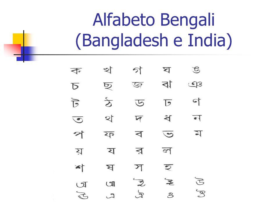 Alfabeto Bengali (Bangladesh e India)