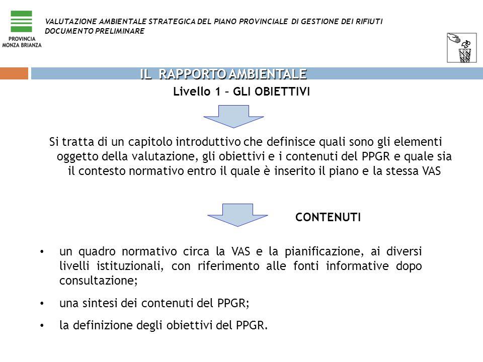 Si tratta di un capitolo introduttivo che definisce quali sono gli elementi oggetto della valutazione, gli obiettivi e i contenuti del PPGR e quale si