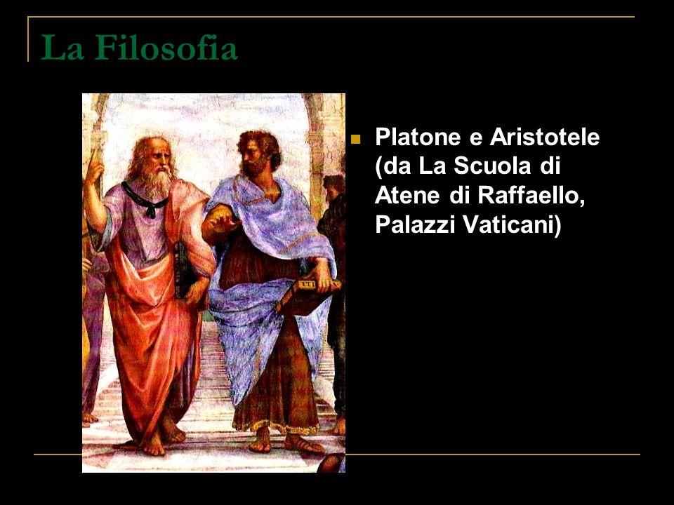 La Filosofia Platone e Aristotele (da La Scuola di Atene di Raffaello, Palazzi Vaticani)