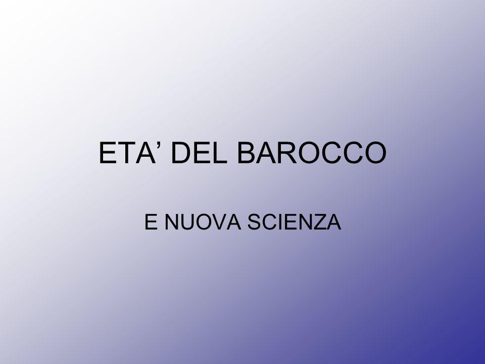 ETA DEL BAROCCO E NUOVA SCIENZA