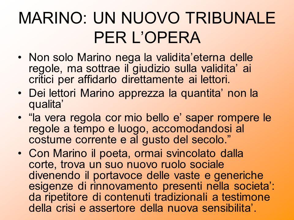 MARINO: UN NUOVO TRIBUNALE PER LOPERA Non solo Marino nega la validitaeterna delle regole, ma sottrae il giudizio sulla validita ai critici per affida