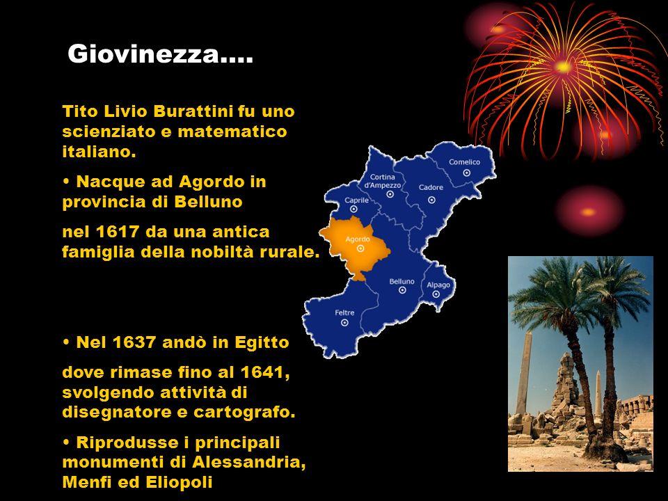 Tito Livio Burattini fu uno scienziato e matematico italiano. Nacque ad Agordo in provincia di Belluno nel 1617 da una antica famiglia della nobiltà r