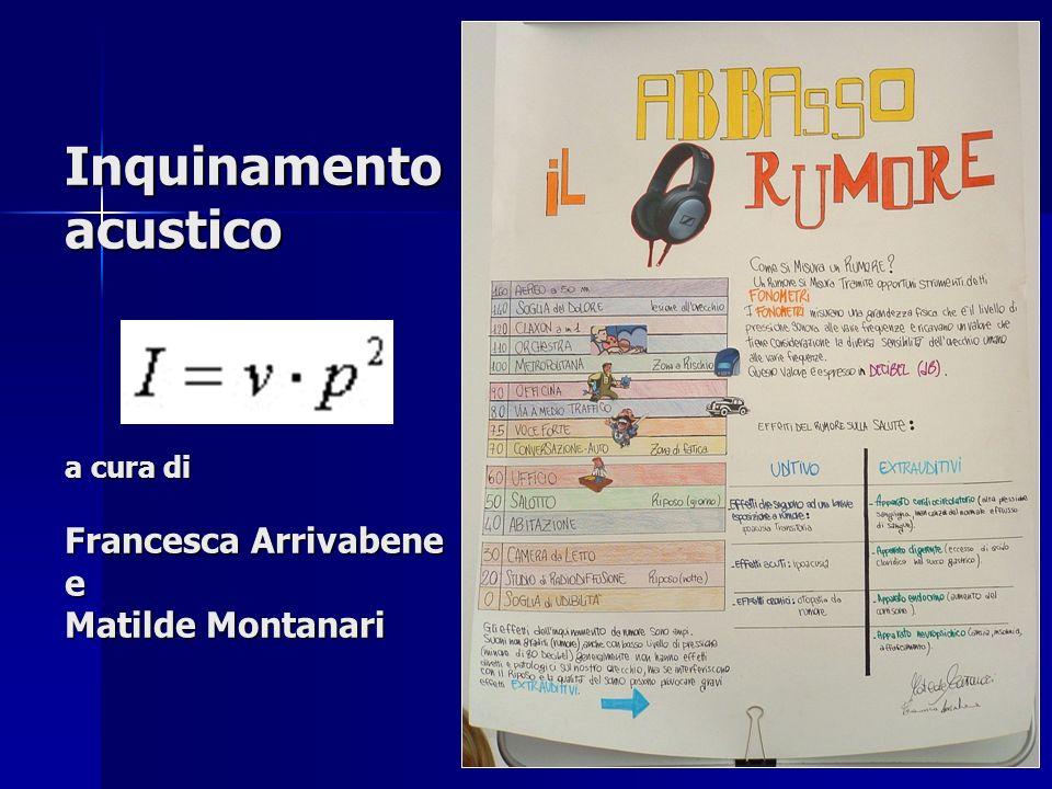 Inquinamento acustico a cura di Francesca Arrivabene e Matilde Montanari