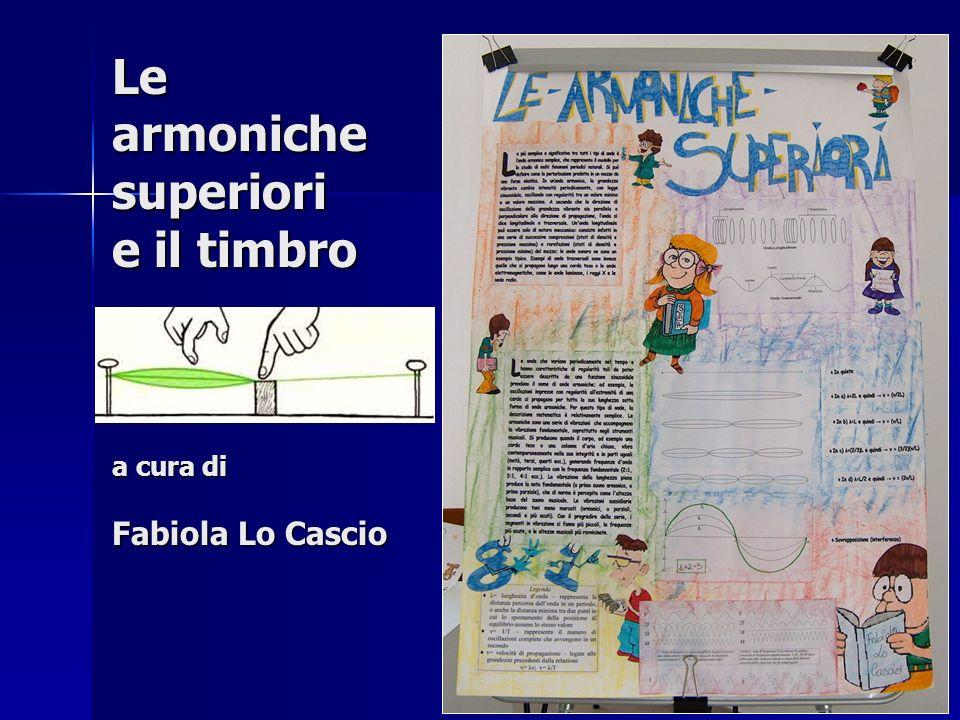 Le armoniche superiori e il timbro a cura di Fabiola Lo Cascio