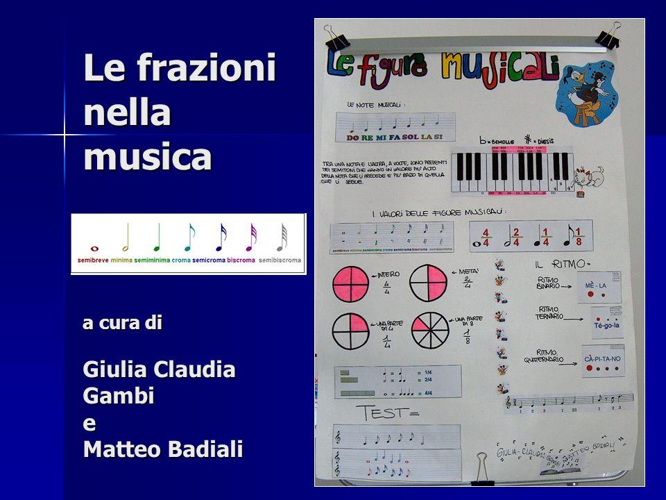 Le frazioni nella musica a cura di Giulia Claudia Gambi e Matteo Badiali