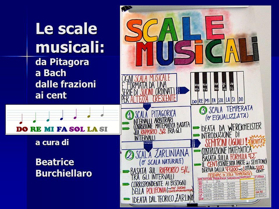 Le scale musicali: da Pitagora a Bach dalle frazioni ai cent a cura di Beatrice Burchiellaro