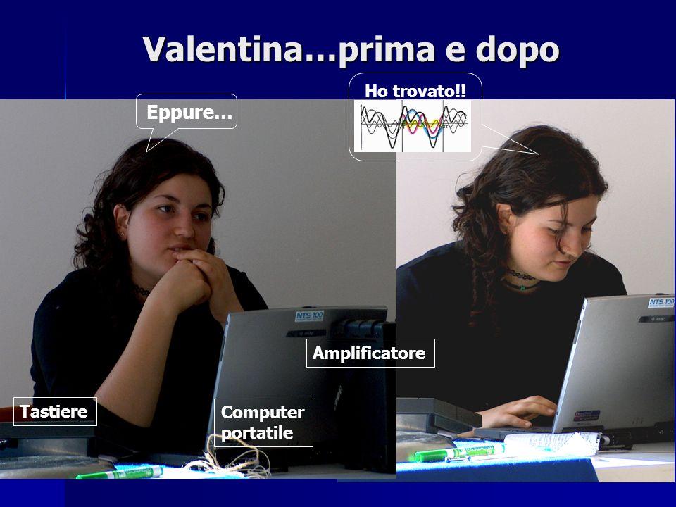 Valentina…prima e dopo Eppure… Tastiere Computer portatile Amplificatore Ho trovato!!