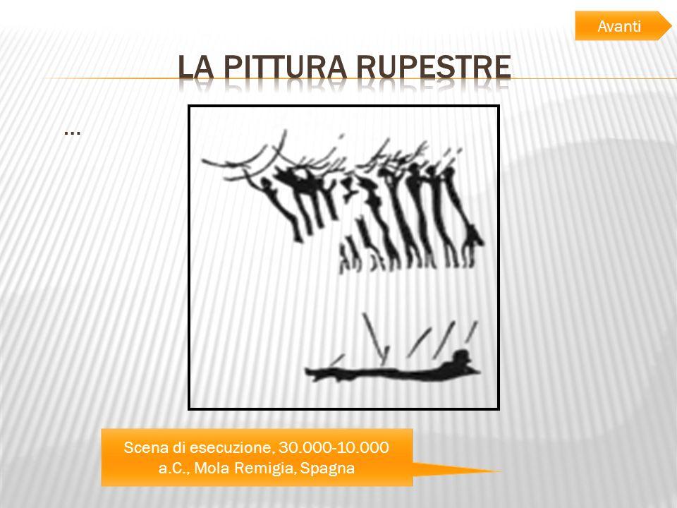 … Scena di esecuzione, 30.000-10.000 a.C., Mola Remigia, Spagna Avanti