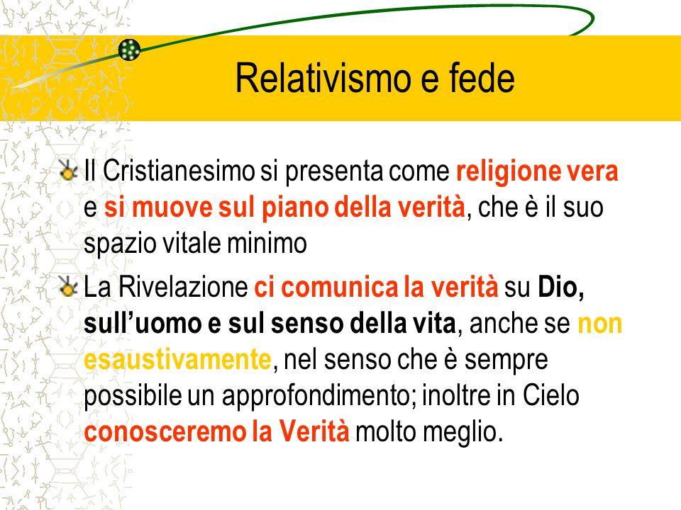 Relativismo e fede (2) La religione cristiana non è un mito, né un insieme di riti utili per la vita sociale e politica, né un principio ispiratore di buoni sentimenti, né unagenzia etica di cooperazione internazionale.