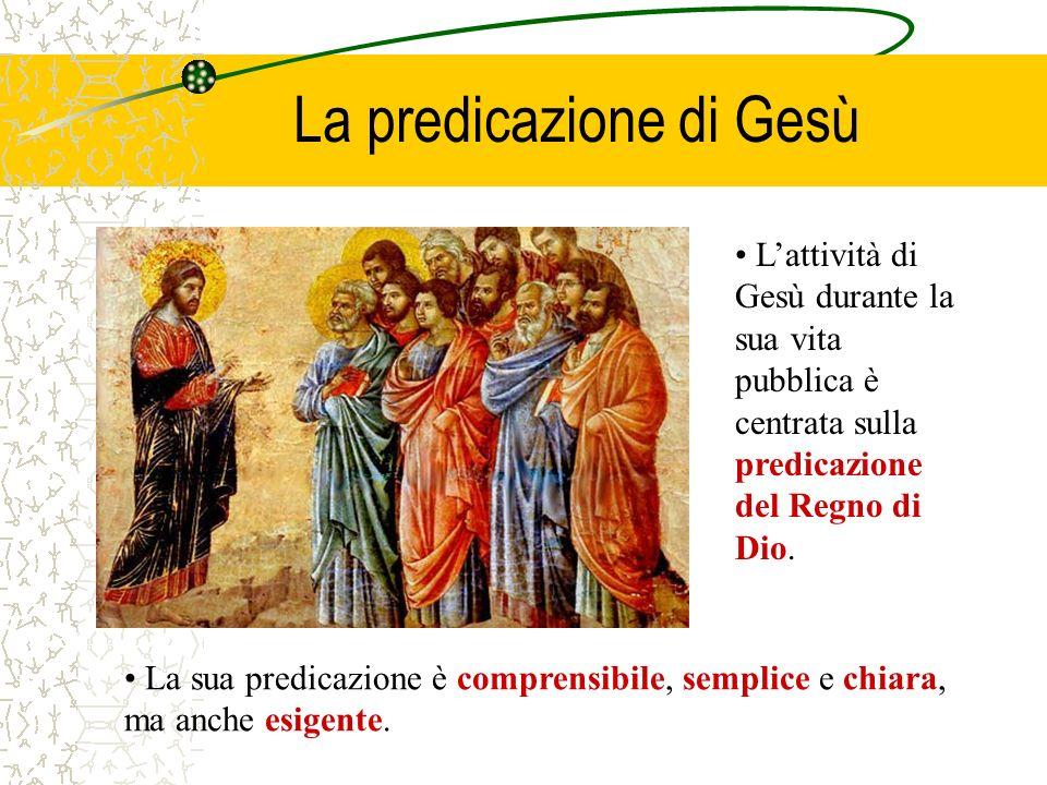 La predicazione di Gesù Lattività di Gesù durante la sua vita pubblica è centrata sulla predicazione del Regno di Dio. La sua predicazione è comprensi