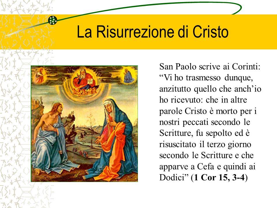 La Risurrezione di Cristo rivela la sua divinità (ma è necessaria la fede per coglierla e confessarla poiché nelle apparizioni la divinità non è visibile).