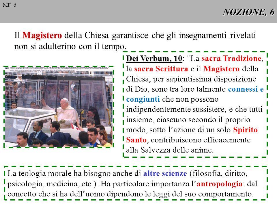 NOZIONE, 6 Magistero Il Magistero della Chiesa garantisce che gli insegnamenti rivelati non si adulterino con il tempo. Dei Verbum, 10 Dei Verbum, 10: