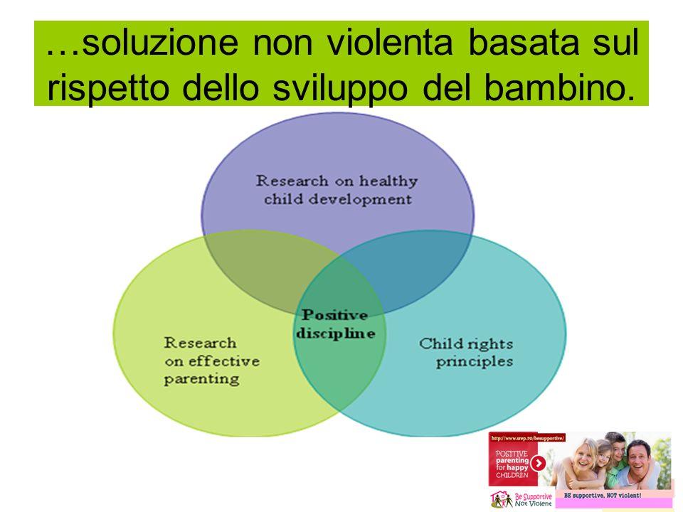 …soluzione non violenta basata sul rispetto dello sviluppo del bambino.