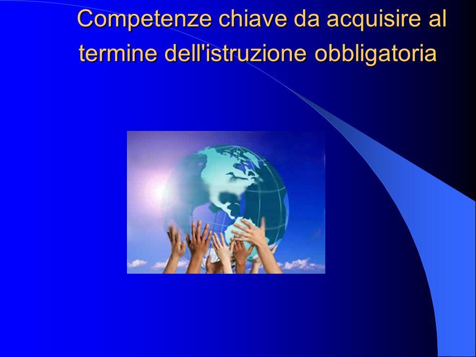 Competenze chiave da acquisire al termine dell'istruzione obbligatoria Competenze chiave da acquisire al termine dell'istruzione obbligatoria