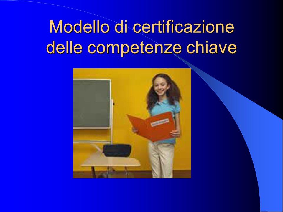 Modello di certificazione delle competenze chiave