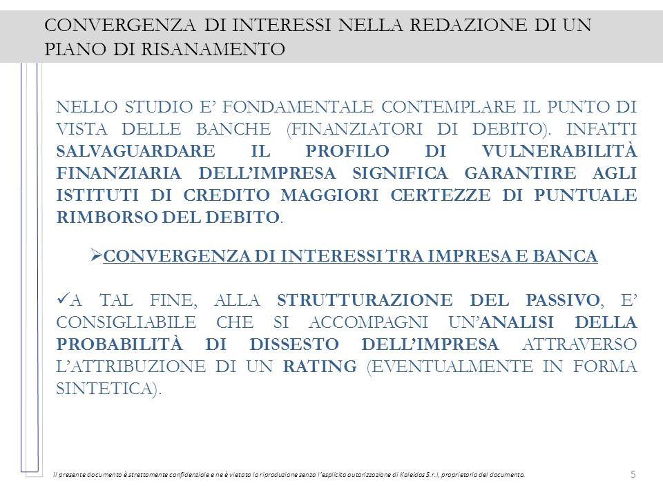 5 CONVERGENZA DI INTERESSI NELLA REDAZIONE DI UN PIANO DI RISANAMENTO Il presente documento è strettamente confidenziale e ne è vietata la riproduzion