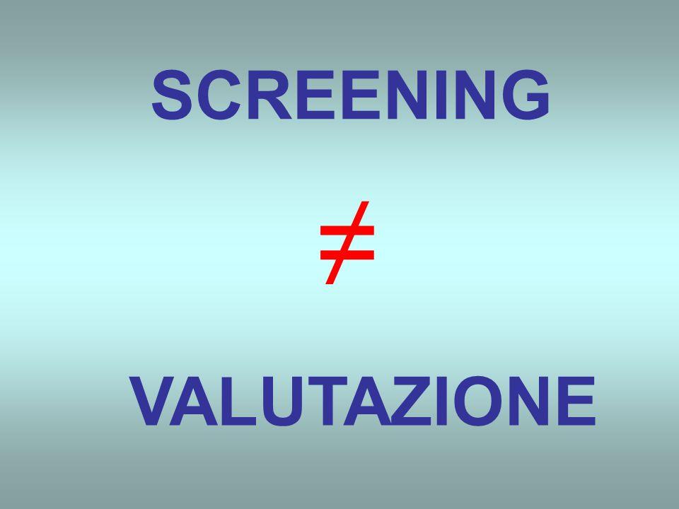 SCREENING VALUTAZIONE