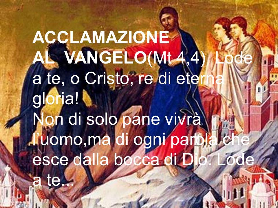 VANGELO Mc 1,12-15 | Gesù, tentato da satana, è servito dagli angeli+ Dal Vangelo secondo Marco In quel tempo, lo Spirito sospinse Gesù nel deserto e