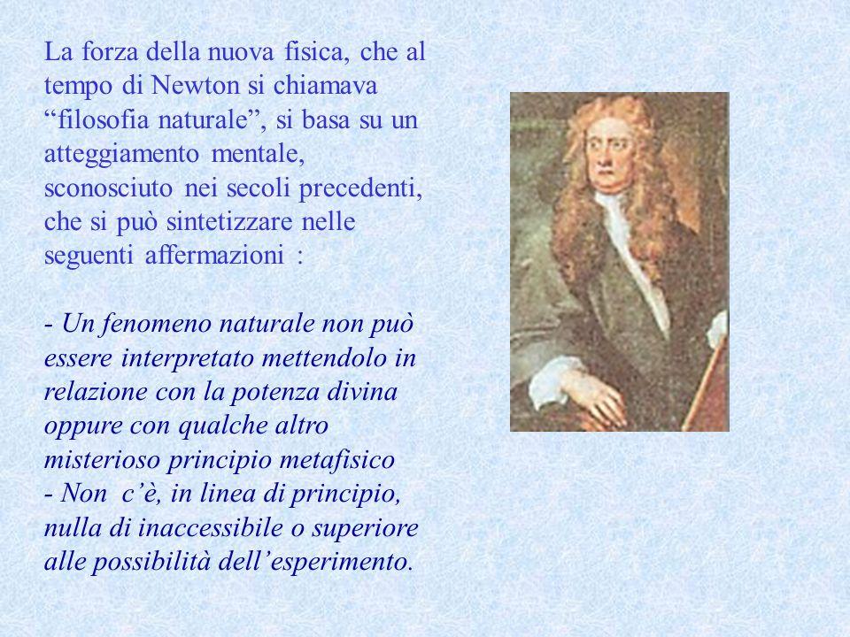 La sostanza della fisica come scienza sperimentale è racchiusa nelle parole di Newton : Nella filosofia naturale linvestigazione delle cose difficili con il metodo analitico deve sempre precedere il metodo della composizione.