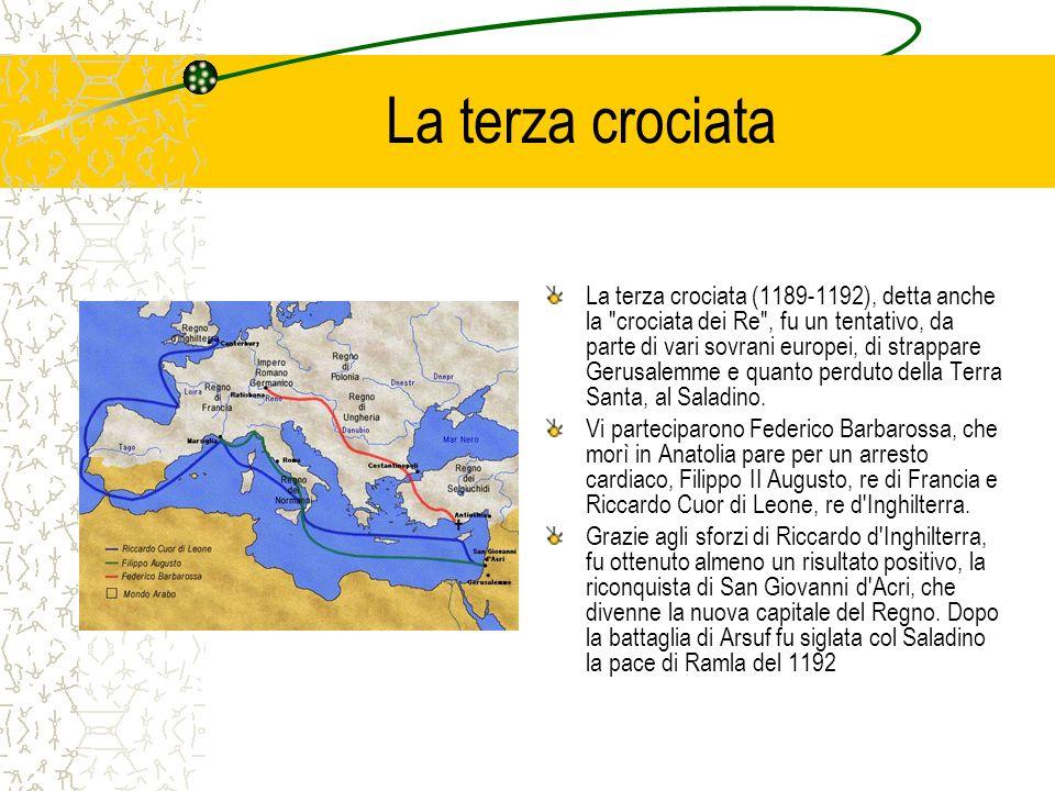 La terza crociata La terza crociata (1189-1192), detta anche la