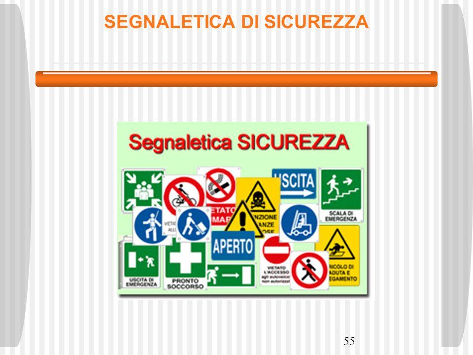 55 SEGNALETICA DI SICUREZZA