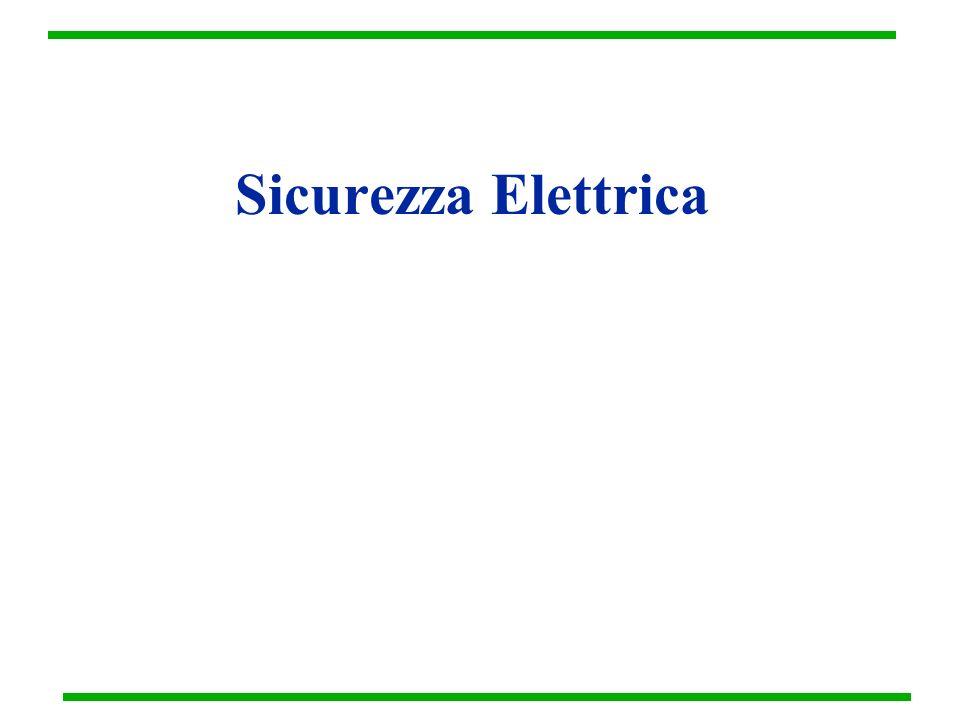 Correnti ad Alta Frequenza La pericolosità della corrente diminuisce con laumentare della frequenza.