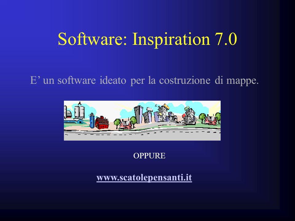 Software: Inspiration 7.0 E un software ideato per la costruzione di mappe. www.scatolepensanti.it OPPURE