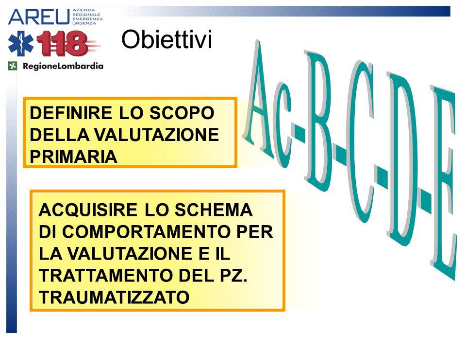 SCOPO Valutazione primaria