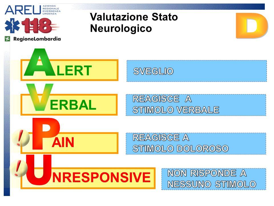 AIN NRESPONSIVE LERT ERBAL Valutazione Stato Neurologico
