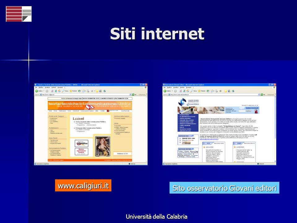 Università della Calabria Siti internet Sito osservatorio Giovani editori www.caligiuri.it